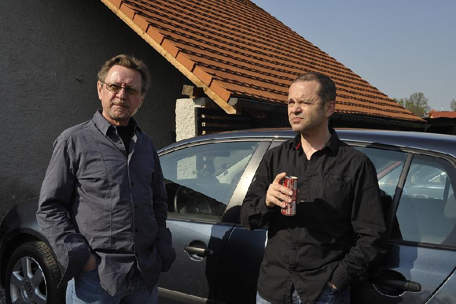 George Mraz and Martin Šulc - Svarov, April 2009 (photo by Patrick Marek)