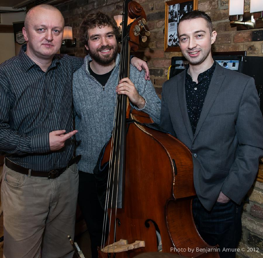 Najponk with Andy Robb and Matt Fishwick after the gig (Spice Of Life,London,UK,1.11.2012)