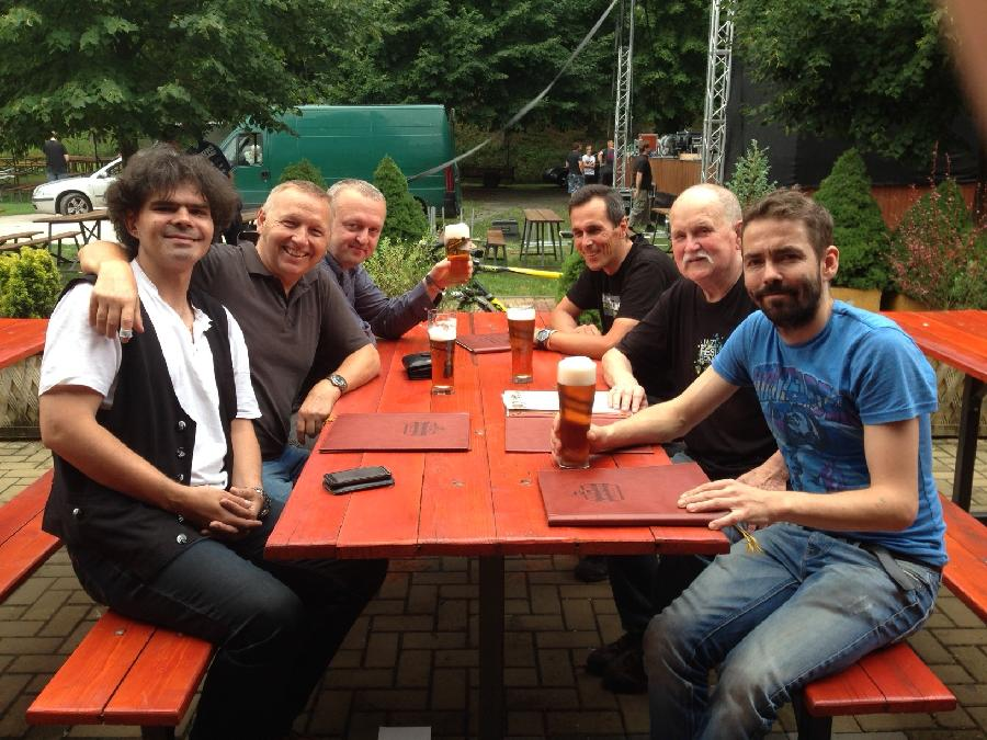 Roman Pokorný Quartet-Feelin´ The Spirit,before the last concert in Letovice,august 1st,2014