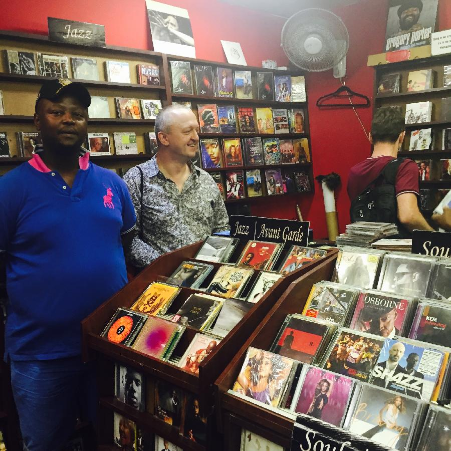 Jazz CD shop,Johannesburg,SA,dec.2015