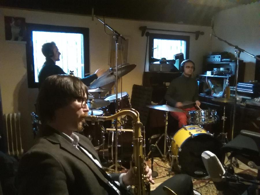 Groovekeepers recording session,feb.20,2016 : Osian Roberts on tenor,Marek Urbanek & Tomas Vokurka on drums