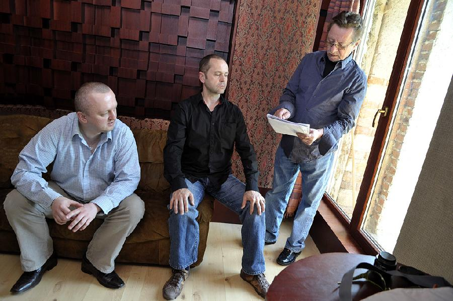 Najponk, Martin Šulc and George Mraz - Studio Svárov, April 2009 (photo by Patrick Marek)